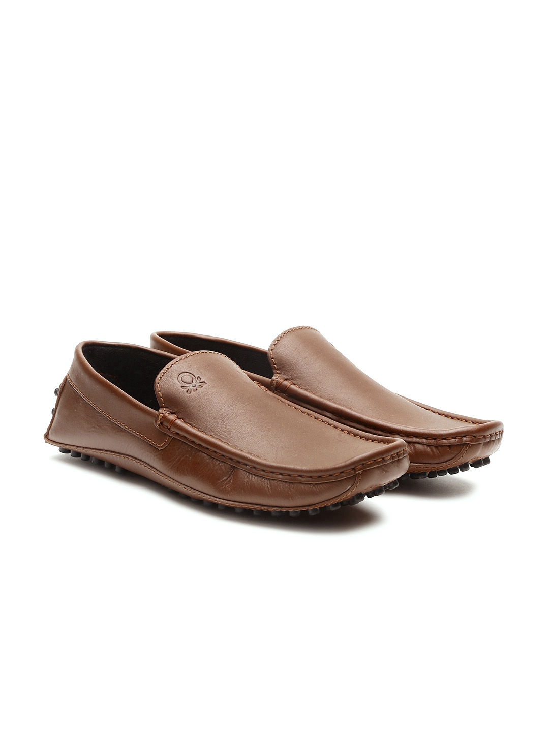 1224fcbbbd870 Buy United Colors Of Benetton Men Brown Genuine Leather Driving ...