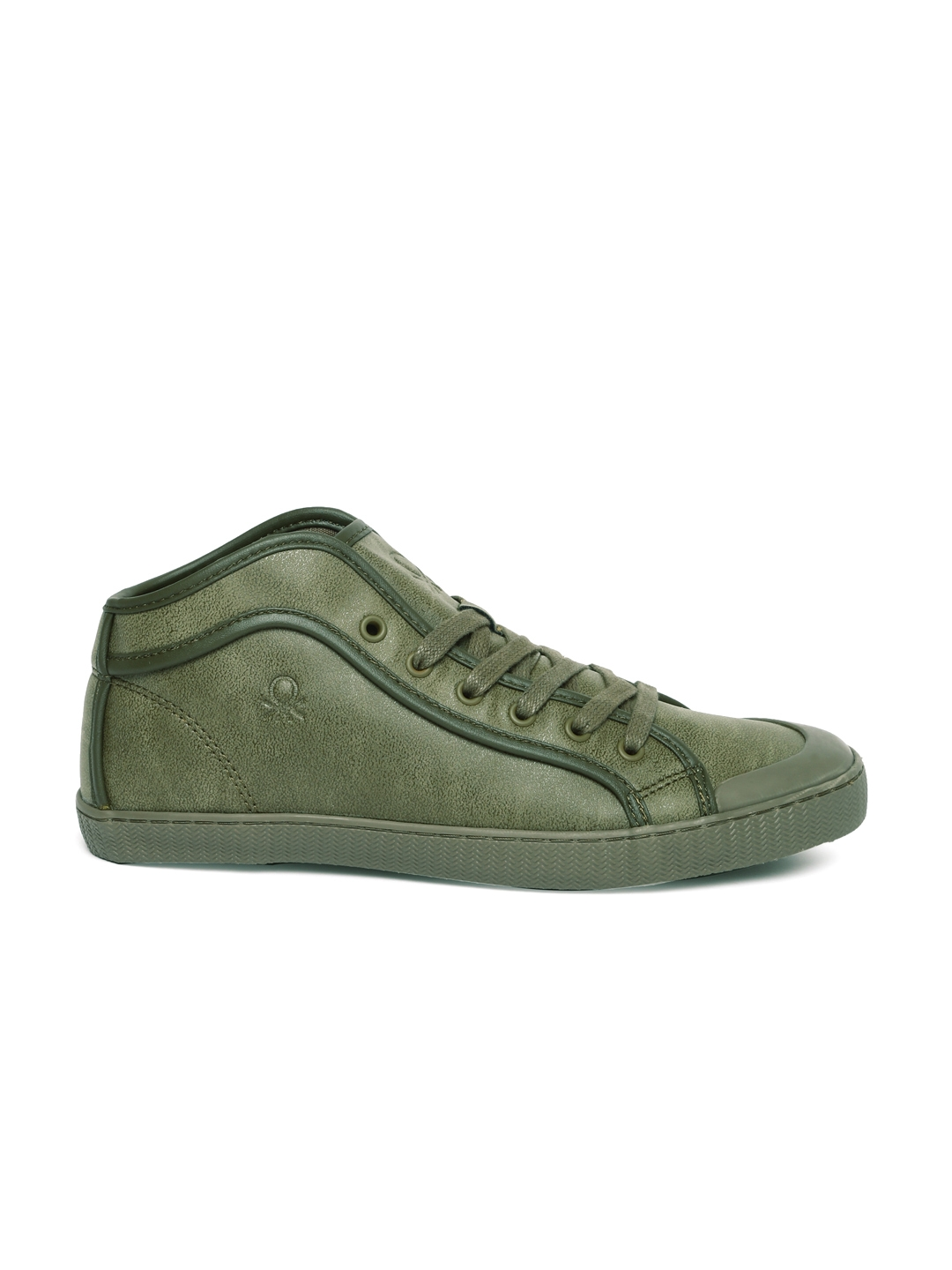 Buy United Colors Of Benetton Men Olive Green Sneakers Casual