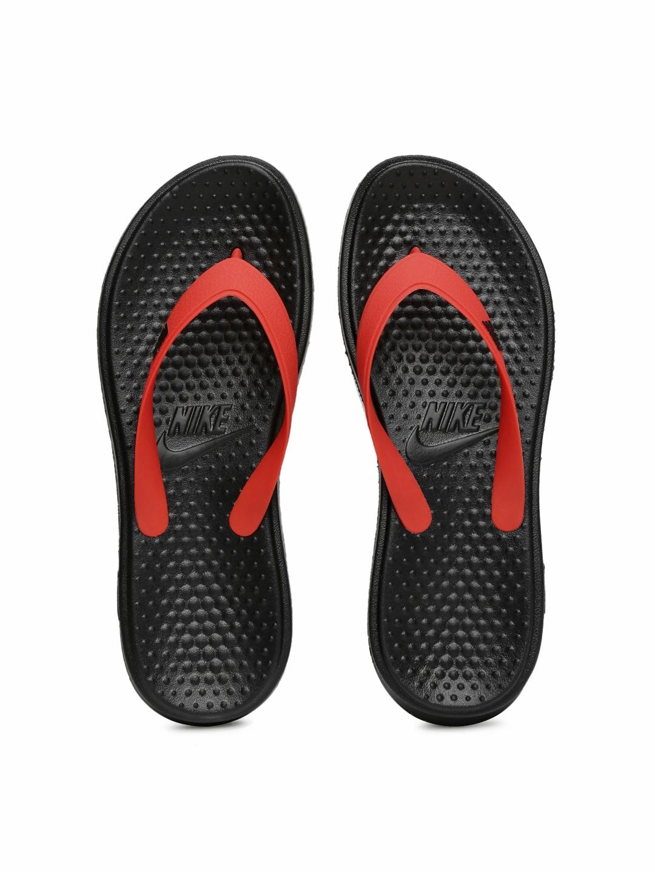 dfba01ffbe9c19 Buy Nike Men Red   Black Solay Thong Flip Flops - Flip Flops for Men ...
