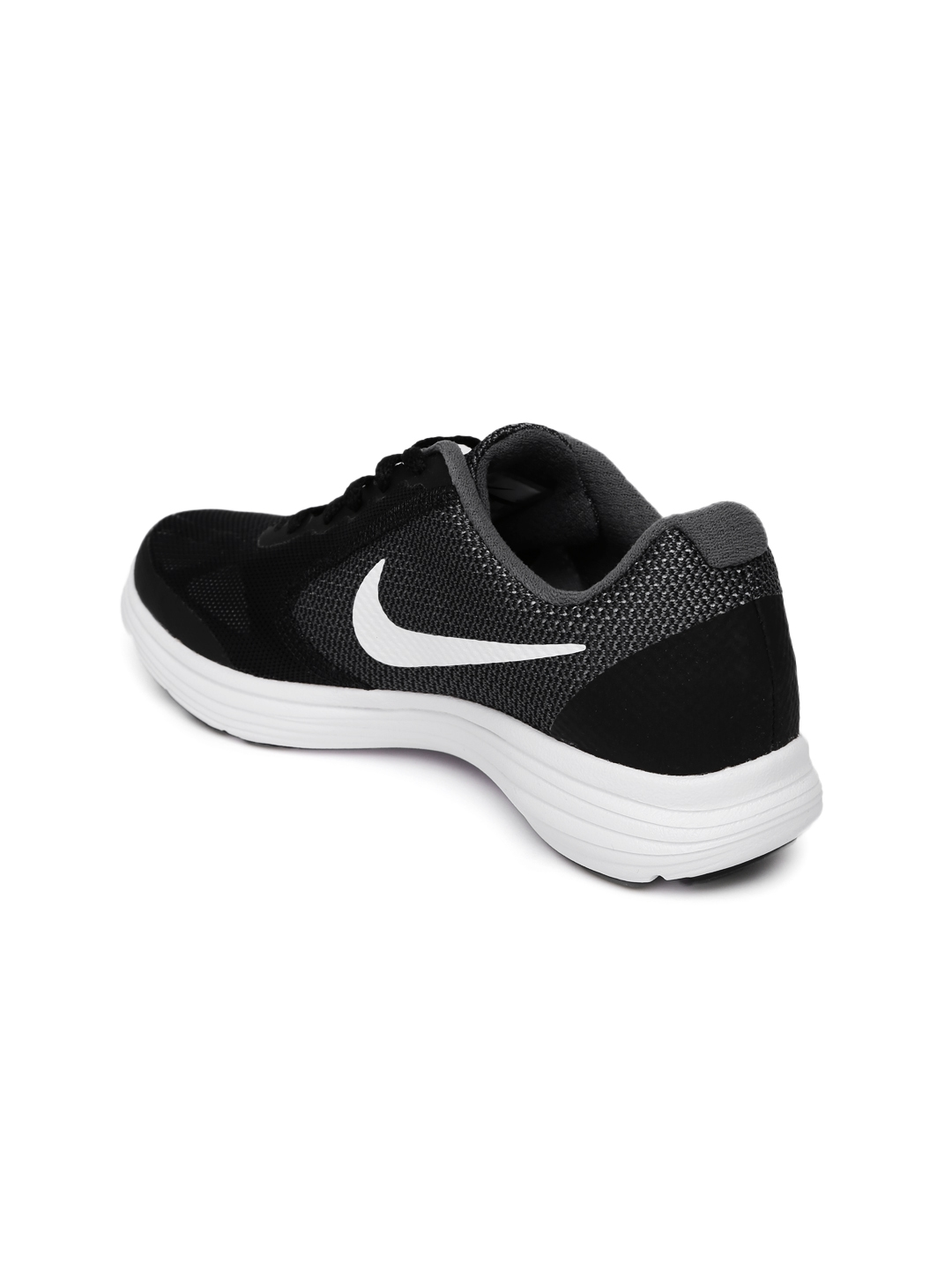 4a69be9869f Buy Nike Boys Charcoal Grey   Black Revolution 3 (GS) Running Shoes ...