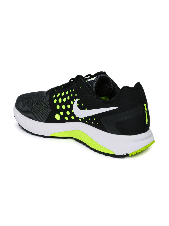 2d1720ef3622 Buy Nike Men Grey   Black Zoom Span Colourblocked Running Shoes - Sports  Shoes for Men 1756809