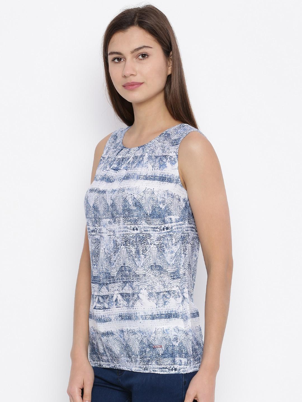 5462aa1ca50 Buy Lee Cooper Navy   White Printed Top - Tops for Women 1757302 ...