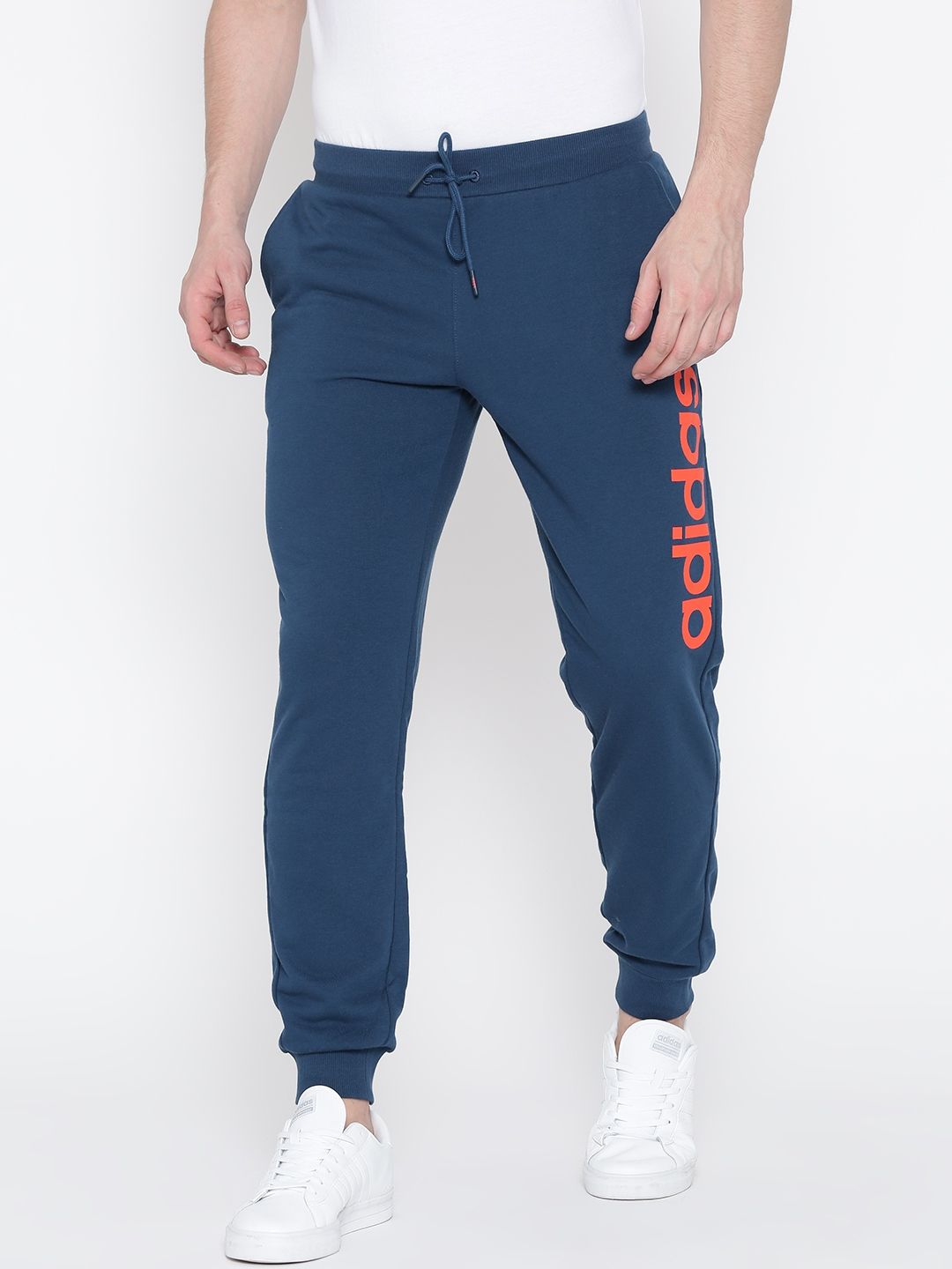 d24dffd74f081 Buy ADIDAS NEO Blue CE A Printed Detail Track Pants - Track Pants for Men  1759727 | Myntra