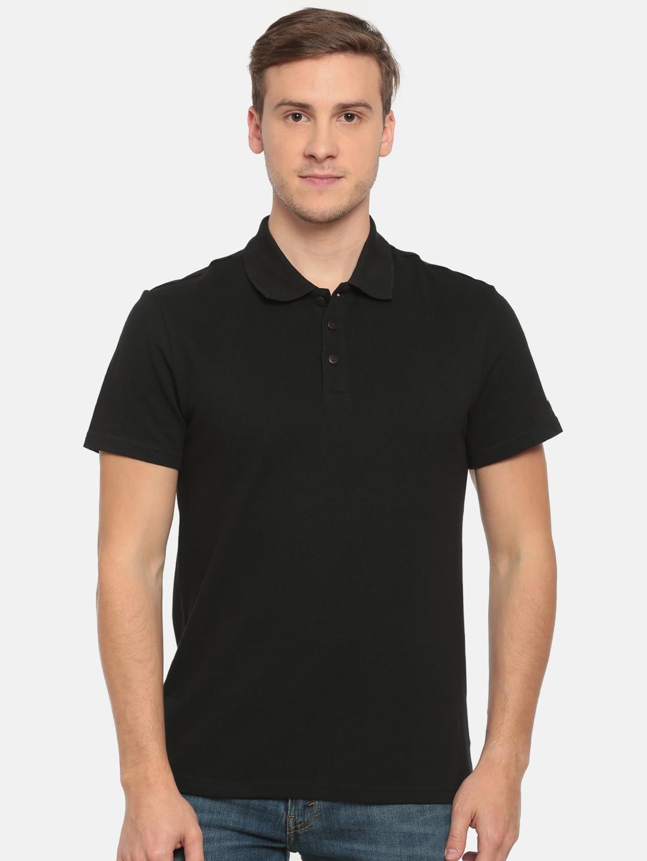 f97619489 Buy ADIDAS Men Black Essentials Base Solid Polo Collar T Shirt - Tshirts  for Men 1759860 | Myntra