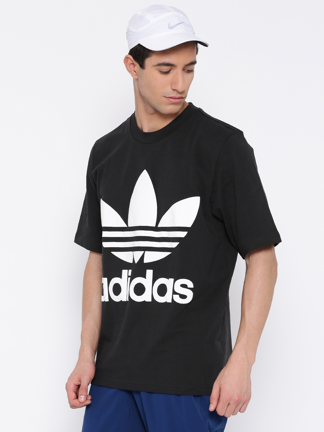e5daf676b78 Buy ADIDAS Originals Men Black AC Printed Round Neck Boxy T Shirt ...