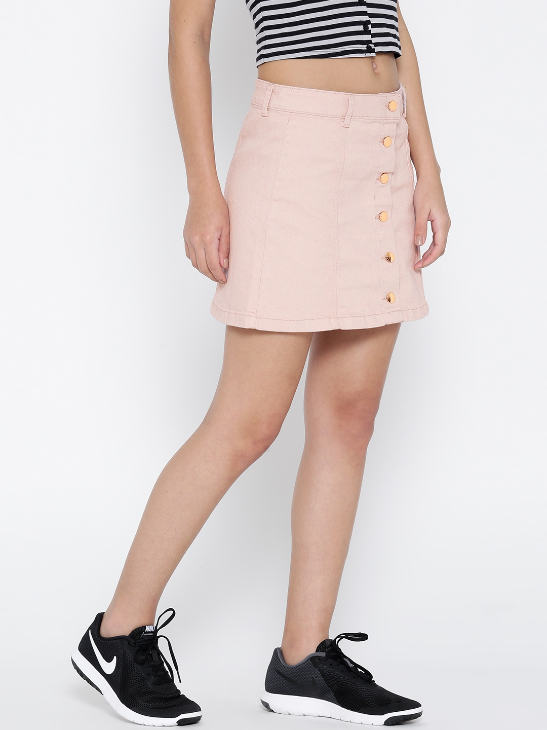 31254e5b0 Buy FOREVER 21 Pink Denim A Line Skirt - Skirts for Women 1762495 ...