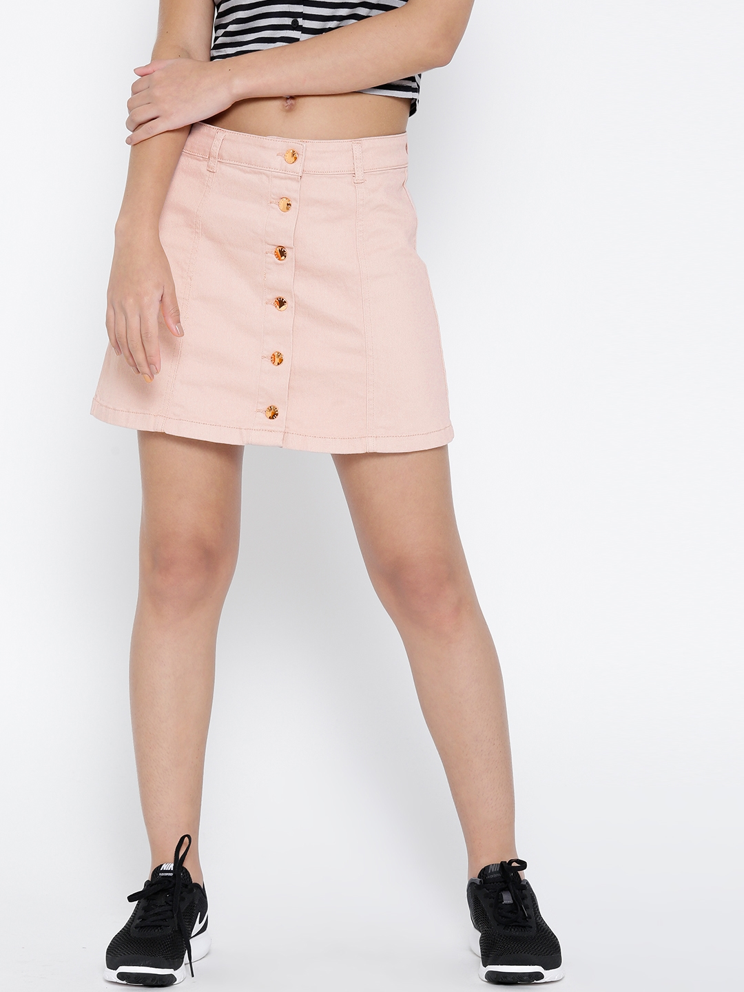 f61c1145db300 Buy FOREVER 21 Pink Denim A Line Skirt - Skirts for Women 1762495 ...