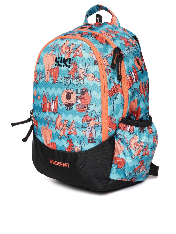 Buy Wildcraft Kids Blue Wiki Zoo 2 Printed Backpacks Backpacks For