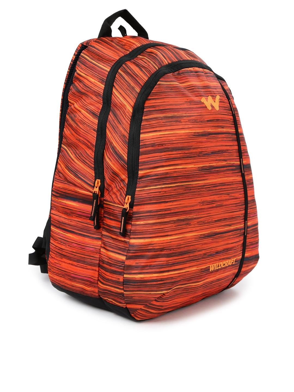 daabeab8d Buy Wildcraft Unisex Orange Printed WC 1 Vistas 1 Backpack ...