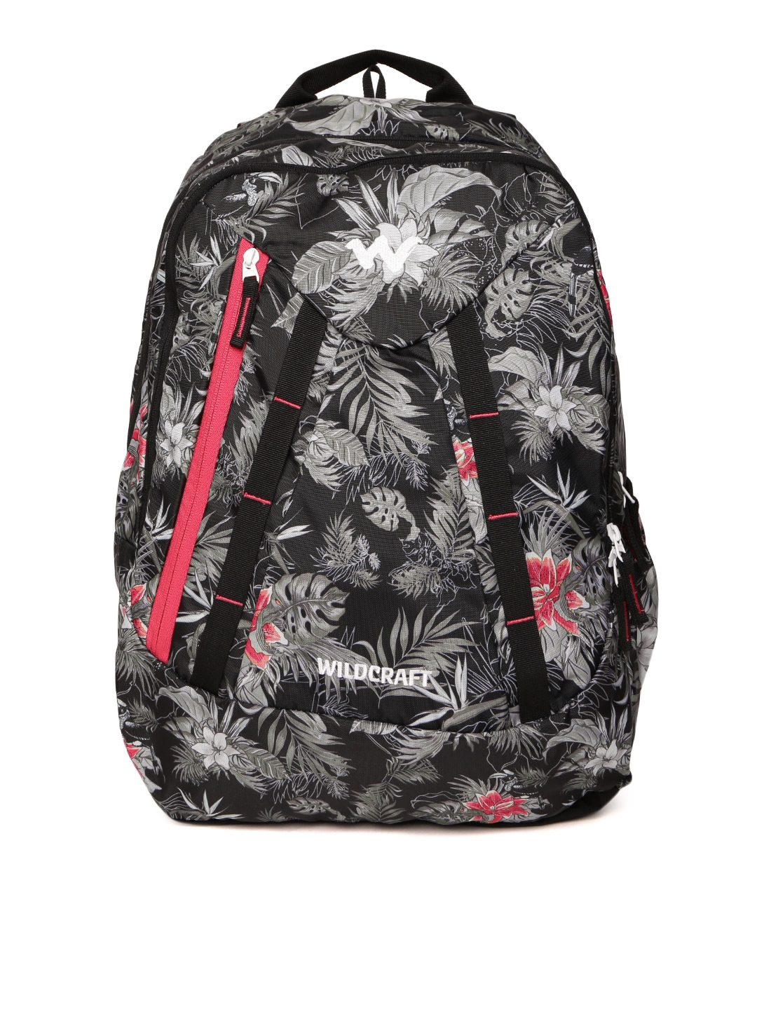 Buy Wildcraft Unisex Black   Grey Floral Print Backpack - Backpacks ... ae5dceaaebd12