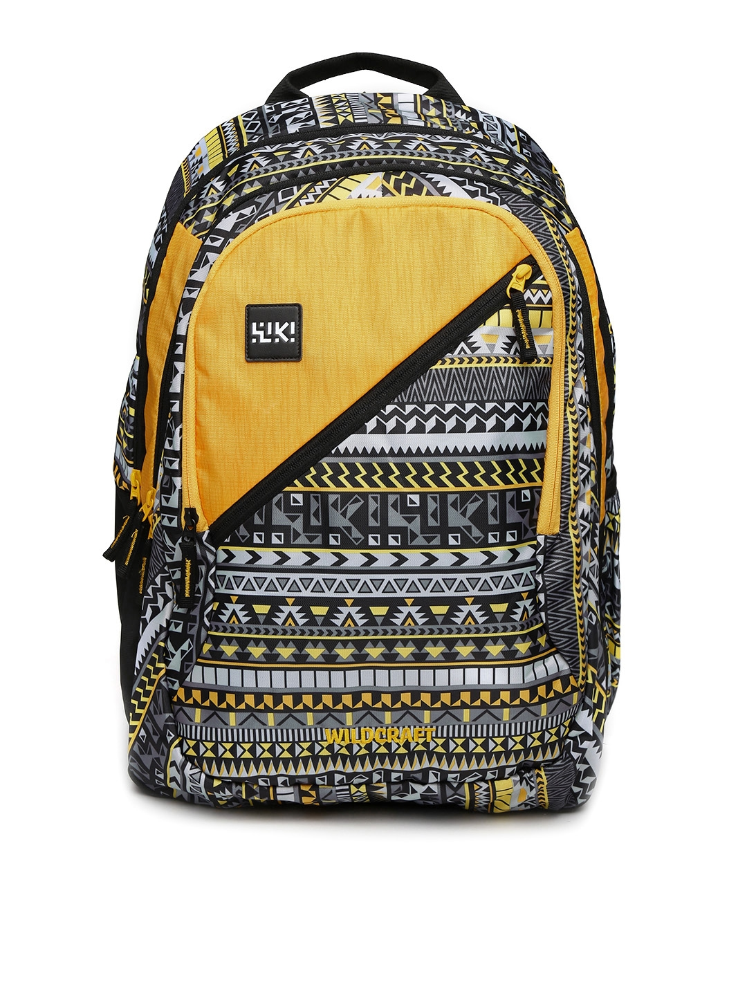 ba1a6d2203a9 Buy Wildcraft Unisex Yellow   Grey Wiki 7 Aztec 6 Printed Backpack ...