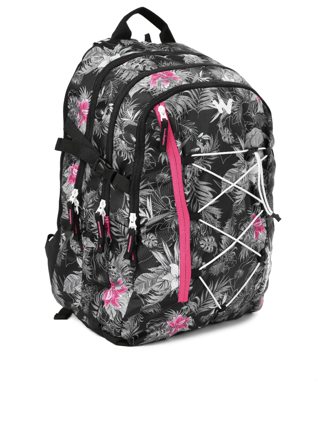 Wildcraft Unisex Charcoal Grey   Black Printed WC 6 Flora 4 Backpack 98cc5e75634c4