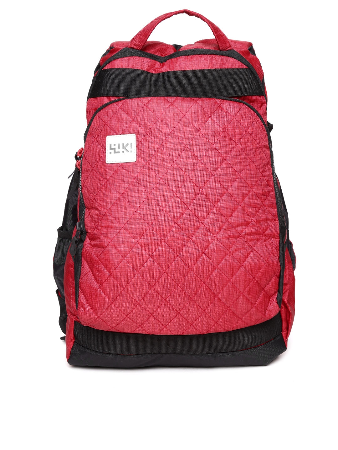 b3d3947f0e Buy Wildcraft Unisex Black   Red Toss Quilted Reversible Backpack ...