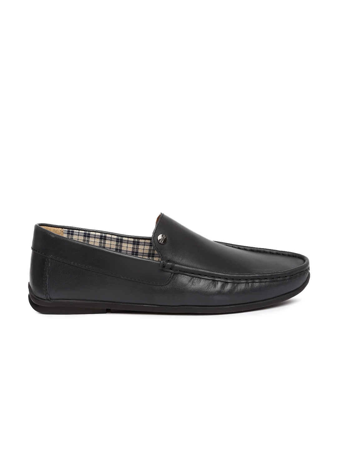 efbdb7dc959 Buy Carlton London Men Black Loafers - Casual Shoes for Men 1764534 ...