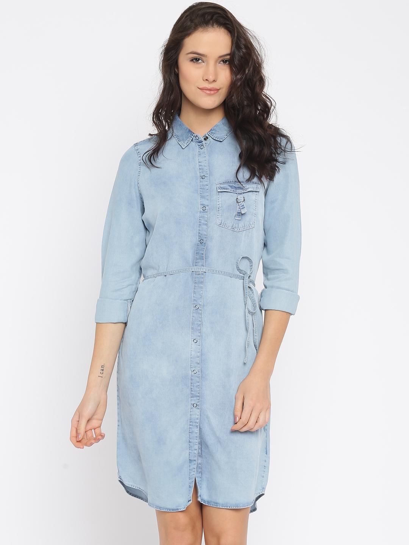 eaf972016d2a1b Buy Vero Moda Women Blue Shirt Dress - Dresses for Women 1766286 ...