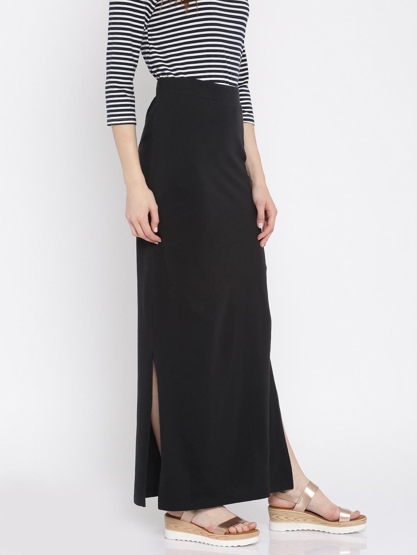 fb7c0253ac Buy Vero Moda Black Maxi Skirt - Skirts for Women 1766306 | Myntra