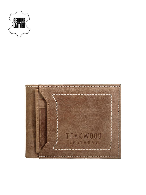 Teakwood Leathers Men Brown Genuine Leather Wallet