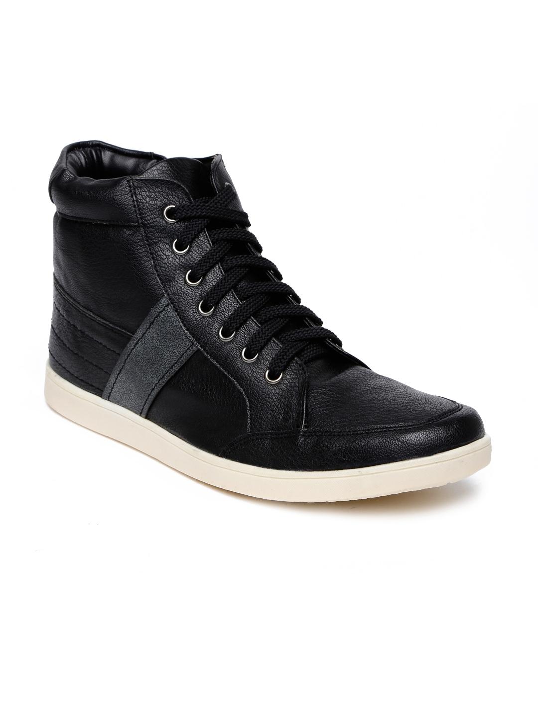North Star Men Black High-Top Sneakers