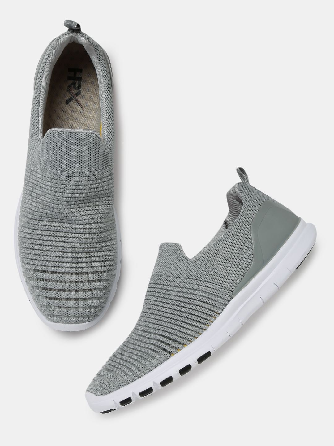 5705e40f8 Buy HRX By Hrithik Roshan Men Grey Soft Walk Series Slip On Sneakers ...