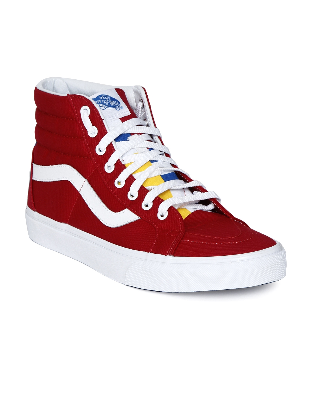Buy Vans Unisex Red High Top Sneakers - Casual Shoes for Unisex ... 340140db5c