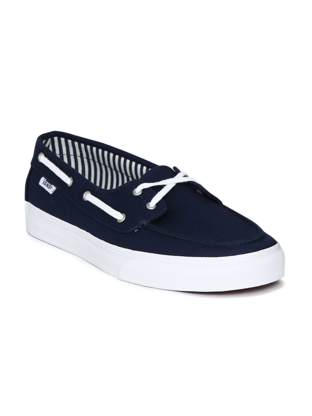 e9c96be3e1e Buy Vans Women Navy Blue Solid Chauffette SF Boat Shoes - Casual ...