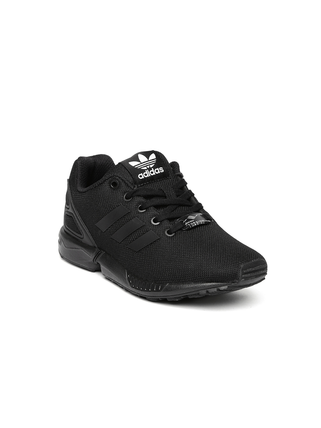 premium selection 9b482 27f1d ADIDAS Originals Kids Black Solid ZX Flux C Sneakers