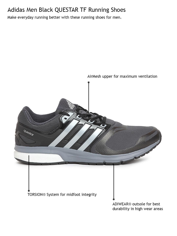 b038efea8 Buy ADIDAS Men Black QUESTAR TechFit Running Shoes - Casual Shoes ...