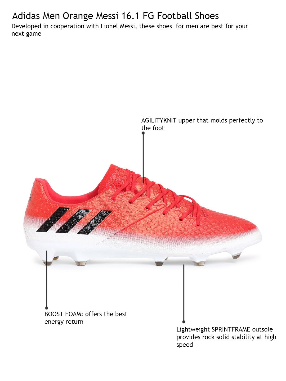 70d368fc168 Buy ADIDAS Men Orange Messi 16.1 FG Football Shoes - Sports Shoes ...