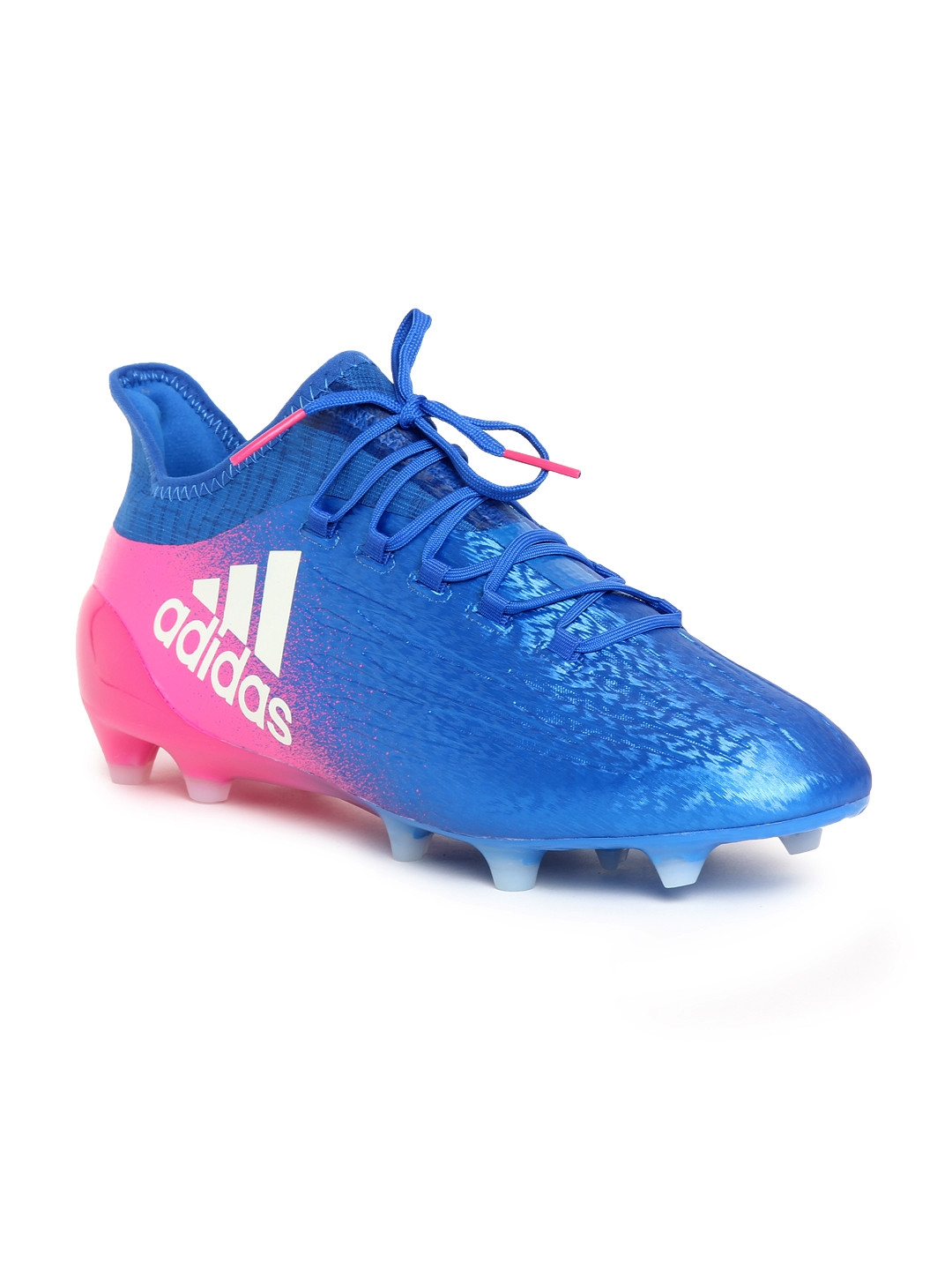 b165d4a594f ADIDAS Men Blue   Pink X 16.1 FG Football Shoes. This product is already at  its best price