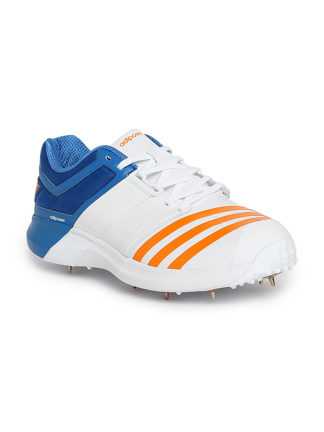 reputable site a77f3 6ef8a ADIDAS Men White Adipower Vector Cricket Shoes