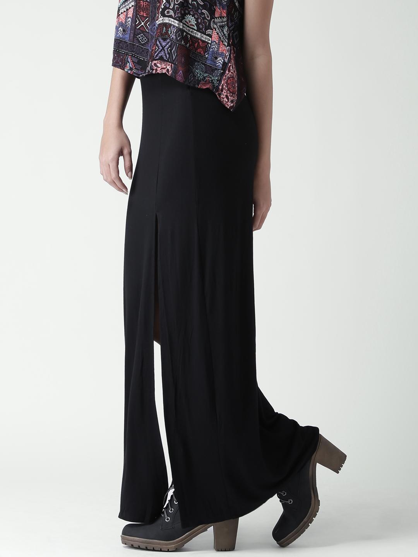 7c614edd9 Buy FOREVER 21 Black High Slit Maxi Skirt - Skirts for Women 1778033 ...