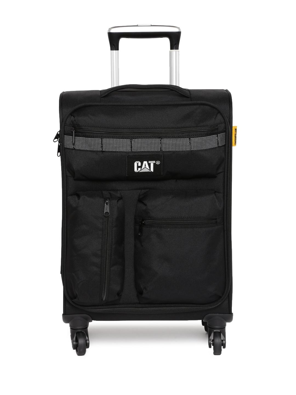 db785ec747 Buy CAT Unisex Black Cube Combat Cabin Trolley Suitcase - Trolley ...