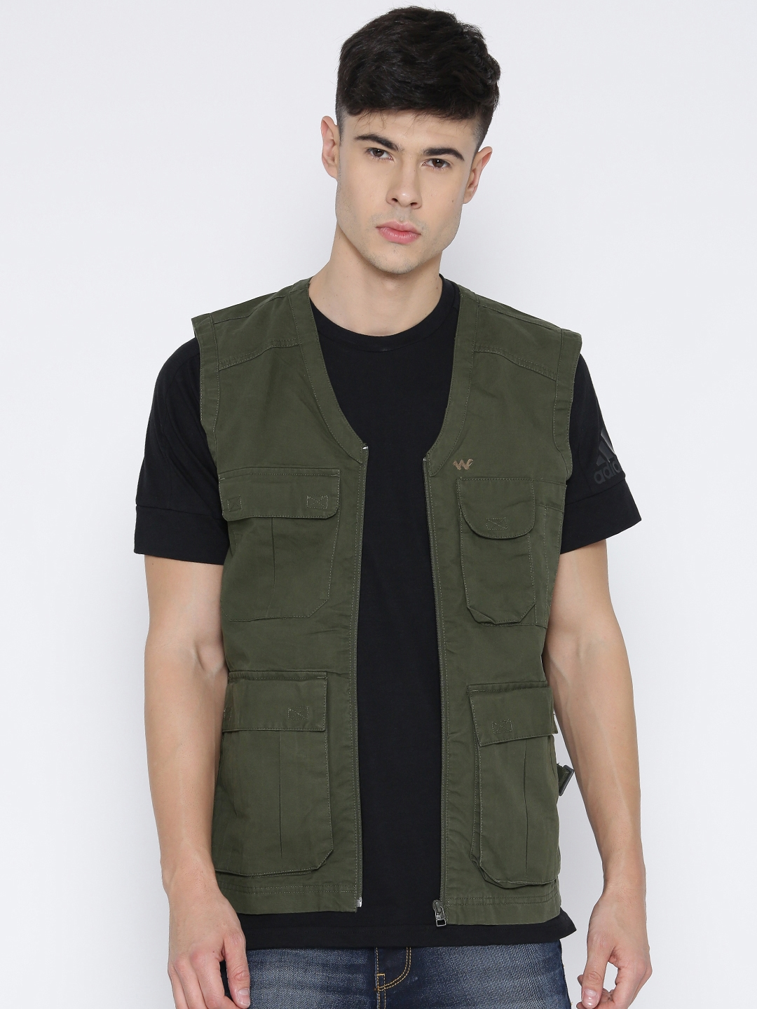 00ad383577d2a Buy Wildcraft Olive Green Sleeveless Utility Cao Utility Jacket ...