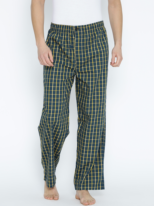 76a52d1efdc6 Buy Liberty Navy   Yellow Checked Pyjamas 205B - Lounge Pants for ...