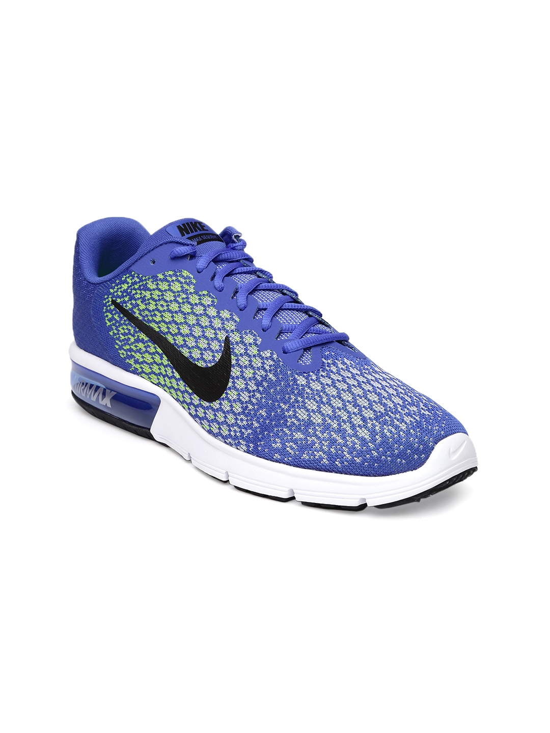 differently 09bf1 ddf5c Nike Men Blue Air Max Sequent 2 Running Shoes