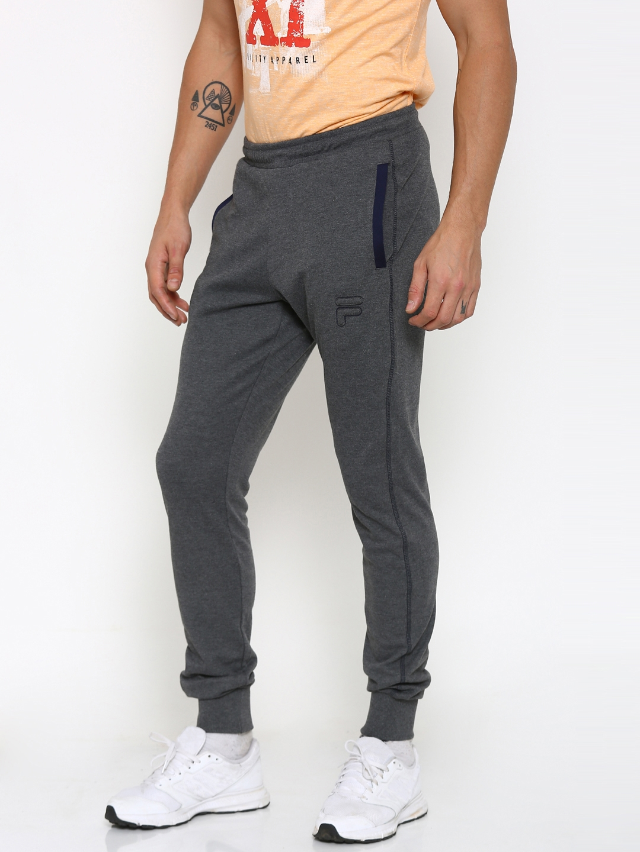 ad150dc811555f Buy FILA Charcoal Grey Joggers - Track Pants for Men 1782371