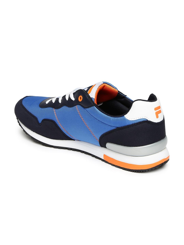 aa32b0ff51c1 Buy FILA Men Blue Colourblocked ORAZIO PLUS 4 Sneakers - Casual ...