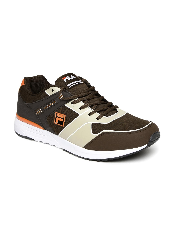 Buy FILA Men Brown   Beige Colourblocked DURWIN Sneakers - Casual ... cc90e73a420a