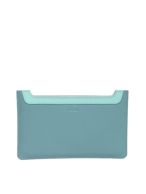 VIARI Women Blue Leather iPad Mini Tablet Sleeve VIARI Tablet Sleeve