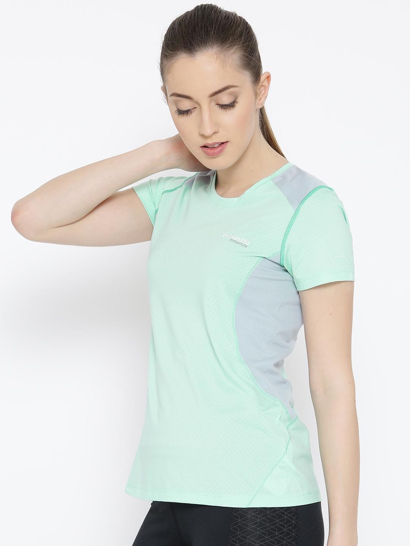9b2feff584daf Buy Columbia Women Mint Green Titan Ice Short Sleeve Solid Round ...