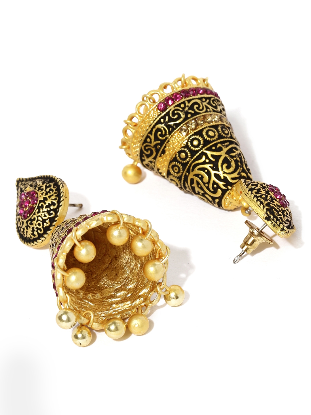 525d9312322 Buy Zaveri Pearls Antique Gold Plated Antique Jhumkas - Earrings for ...
