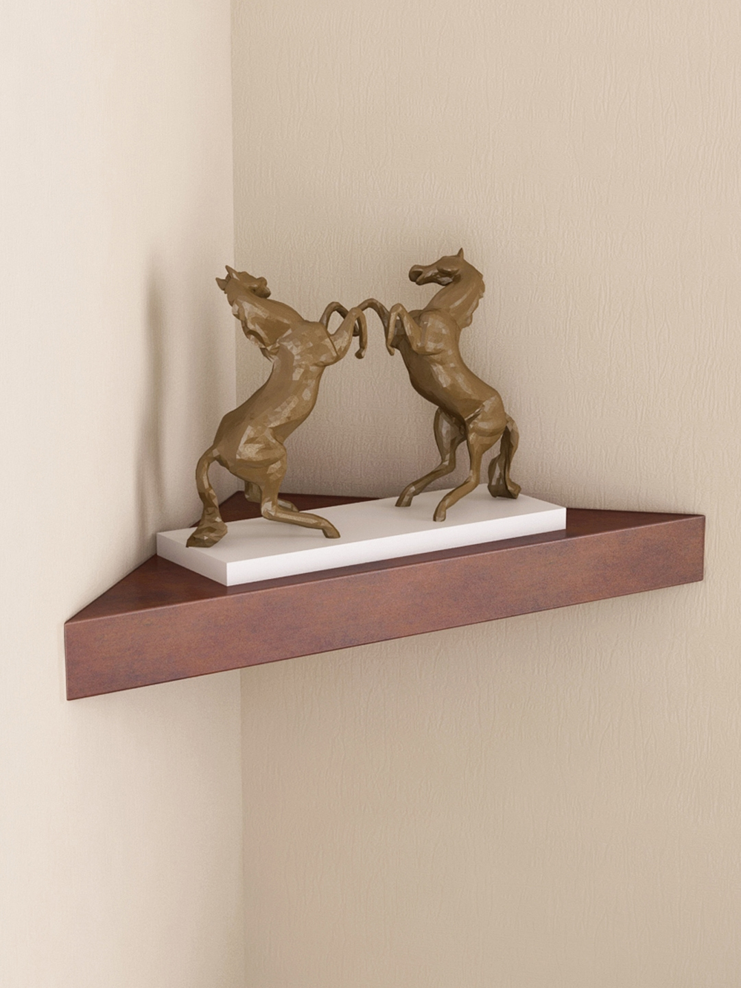 Home Sparkle Brown Wall Shelf