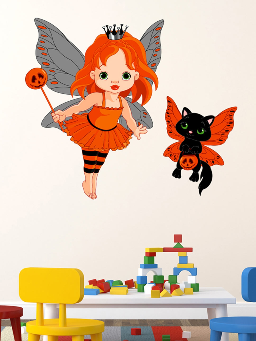 Aspire multicoloured baby princess in halloween costume wall sticker