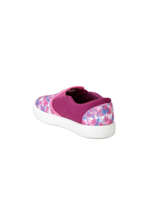 503d5f719350d Buy Crocs Girls Pink Printed Regular Slip On Sneakers - Casual Shoes ...