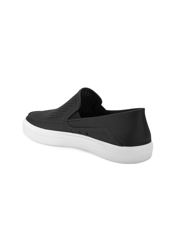 4709e5e3082ac9 Buy Crocs Women Black Solid Regular Slip On Sneakers - Casual Shoes ...