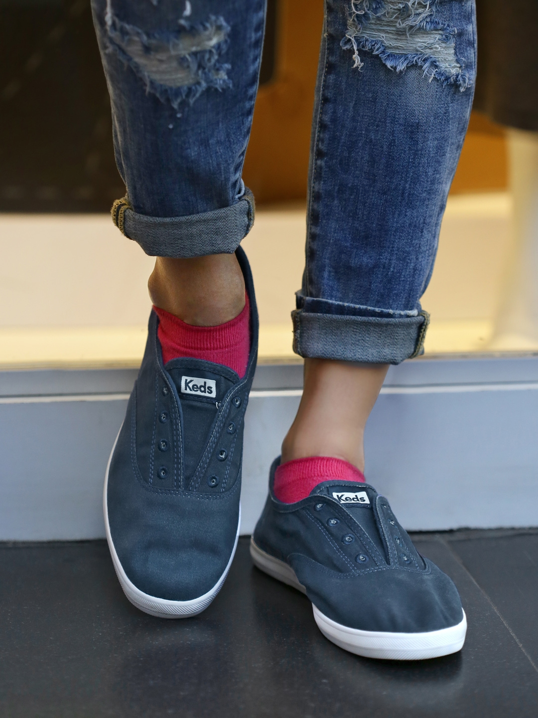 Buy Keds Women Navy Chillax Solid Slip On Sneakers - Casual Shoes ... 0818a9381