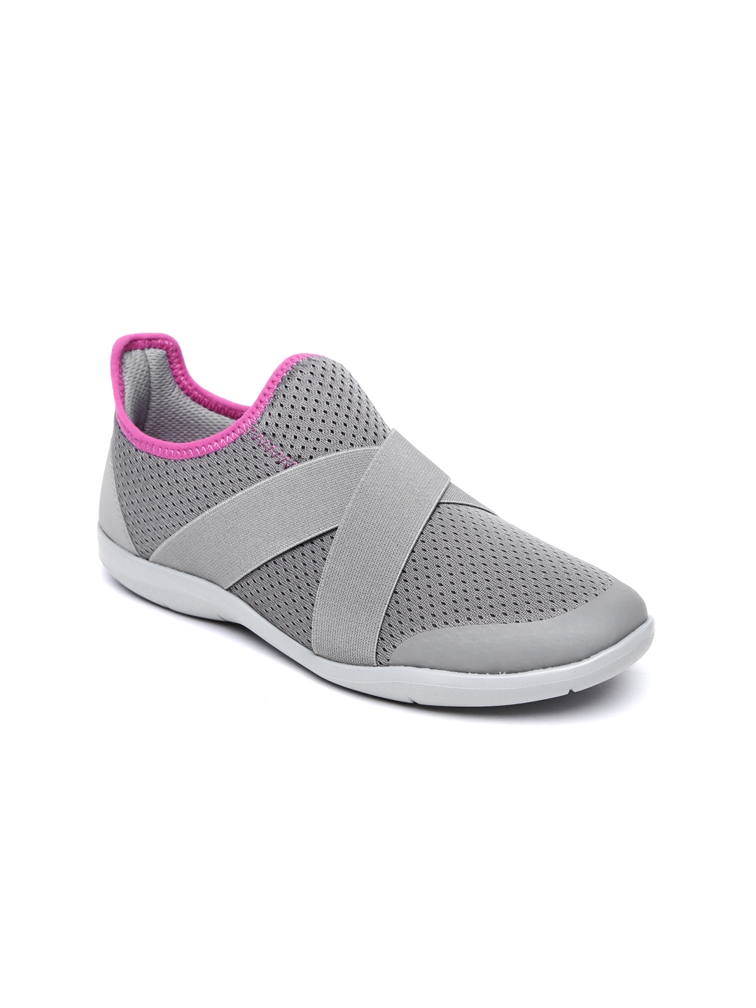 0f07e9b7796bec Buy Crocs Women Grey Solid Slip On Sneakers - Casual Shoes for Women ...