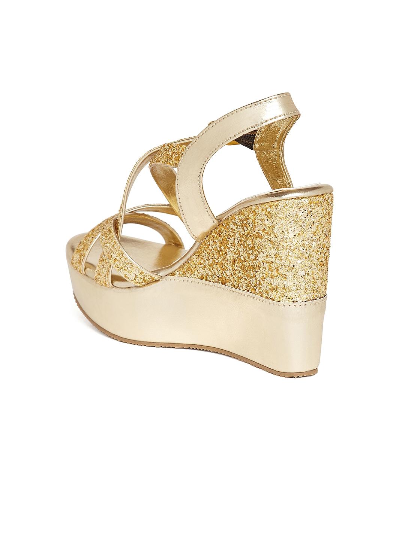 ecbbf44a921 Buy Marc Loire Women Gold Toned Embellished Wedges - Heels for Women ...