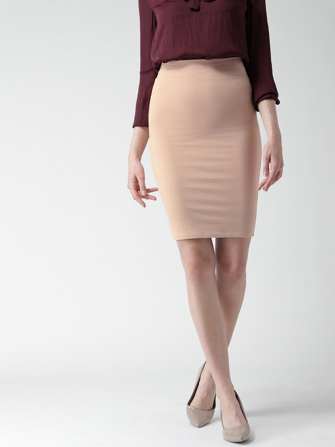 96c69523a9 Buy FOREVER 21 Dusty Pink Pencil Skirt - Skirts for Women 1793074 ...