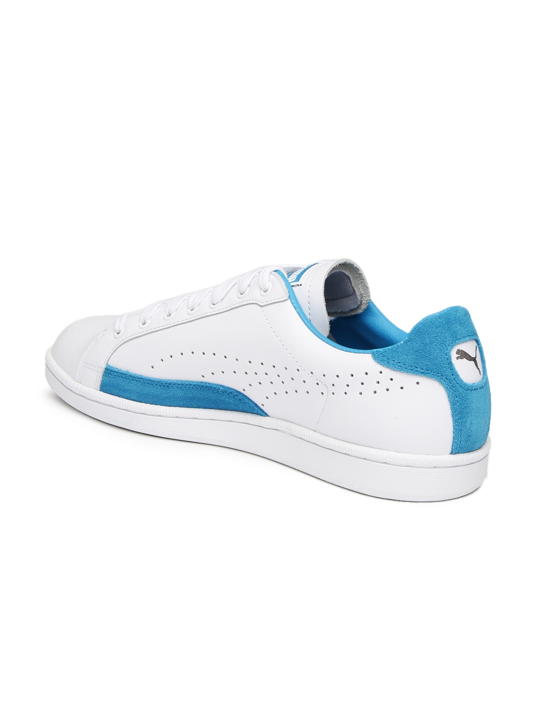 3bfe05e276f Buy Puma Men White   Blue Match 74 UPC Leather Sneakers - Casual Shoes for  Men 1794523